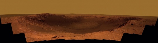 Color Panorama of Mars Crater 'Santa Maria'