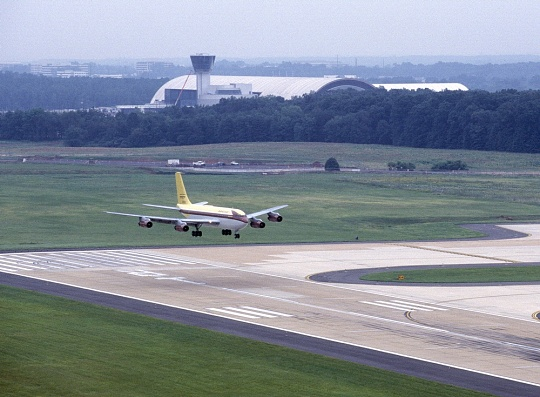 Boeing Dash 80 Landing at Dulles Airport