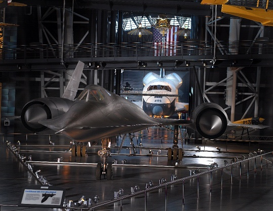 Lockheed SR-71 and Space Shuttle Enterprise at the Udvar-Hazy Center