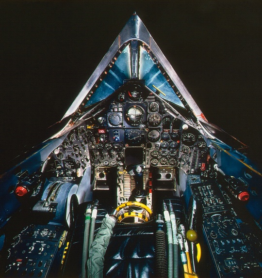 Cockpit of the Lockheed SR-71A Blackbird at the Udvar-Hazy Center