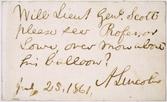Abraham Lincoln's Note to Gen. Scott