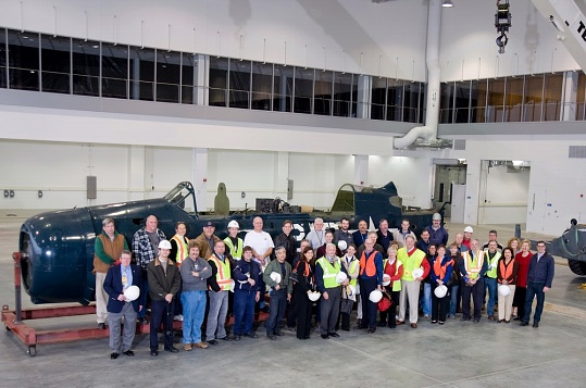 Staff & Supporters Pose in Front of <i>Helldiver</i>