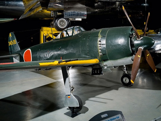 Kawanishi N1K2-Ja at the Steven F. Udvar-Hazy Aviation Hangar