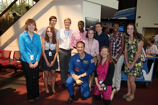 Interns with NASA Astronaut