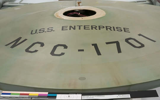 <i>Enterprise</i> Saucer Close Up