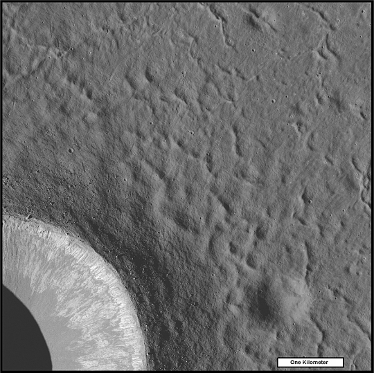 Crater Concentric Ridges on the Moon