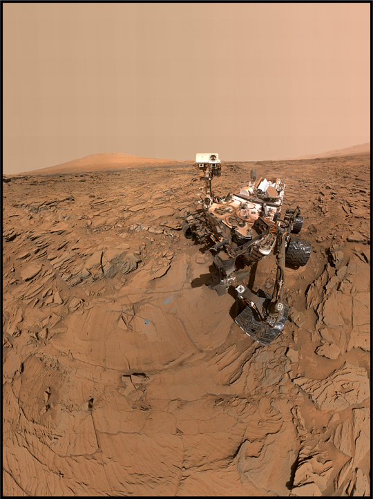 Self Portrait of Mars Rover Curiosity