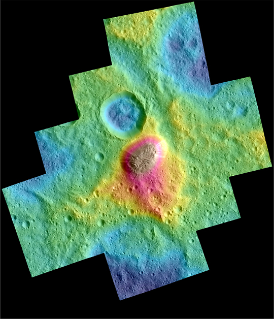 Color Topography on Dwarf Planet