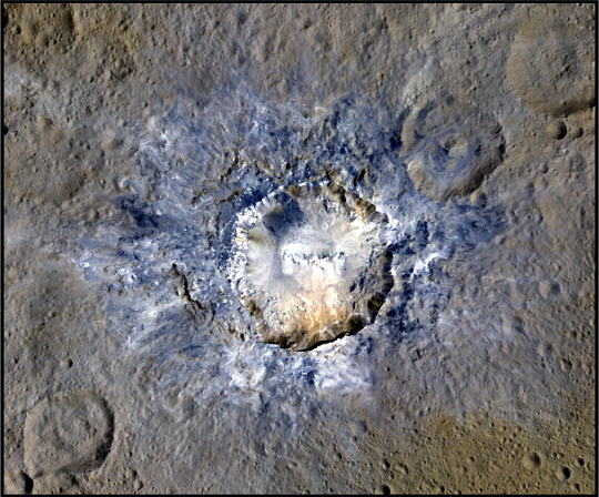 Haulani Crater on Dwarf Planet Ceres