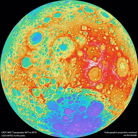 Moon Topography