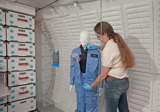 Sally Ride's in-flight suit
