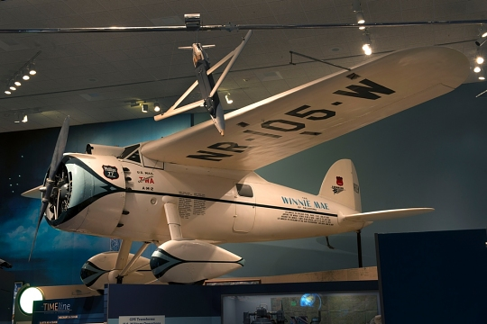 "Lockheed Vega ""Winnie Mae"" on display in ""Time and Navigation"""