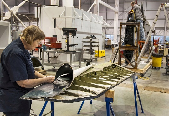 Museum Specialists Work to Restore Helldiver