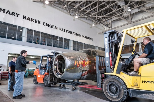 """Flak-Bait"" Moves to the Restoration Hangar"