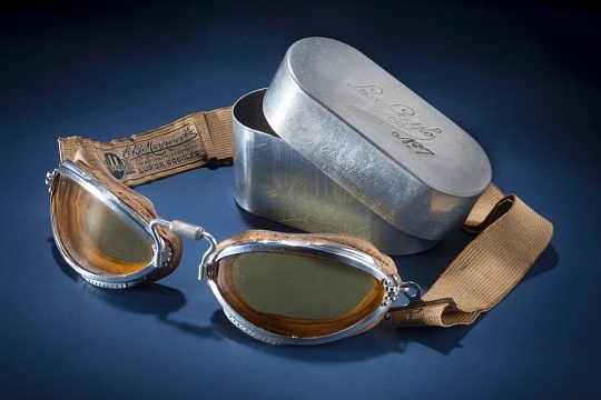 E. B. Meyrowitz Flying Goggles and Case