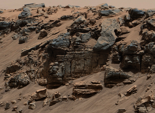 Lakebed on Mars