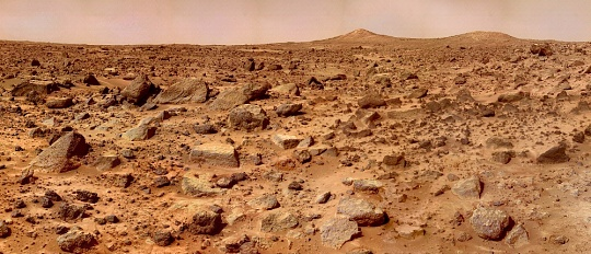 Mars Pathfinder's View of Twin Peaks