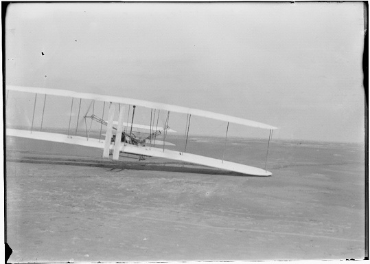 The 1903 Wright Flyer Piloted by Orville Wright