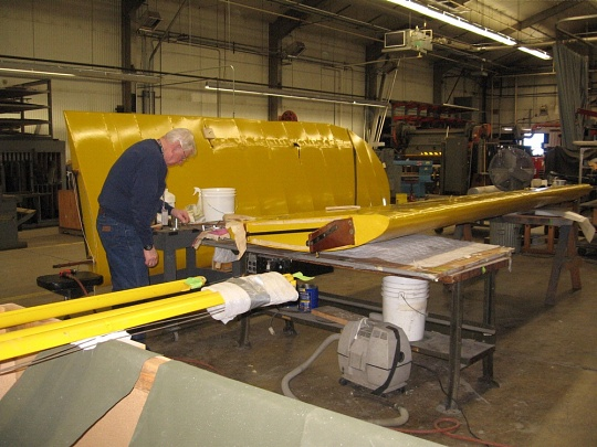 Piper J-2 Cub in the Restoration Shop