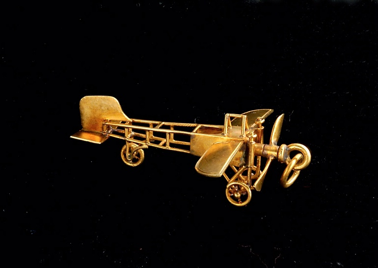 Blériot airplane charm