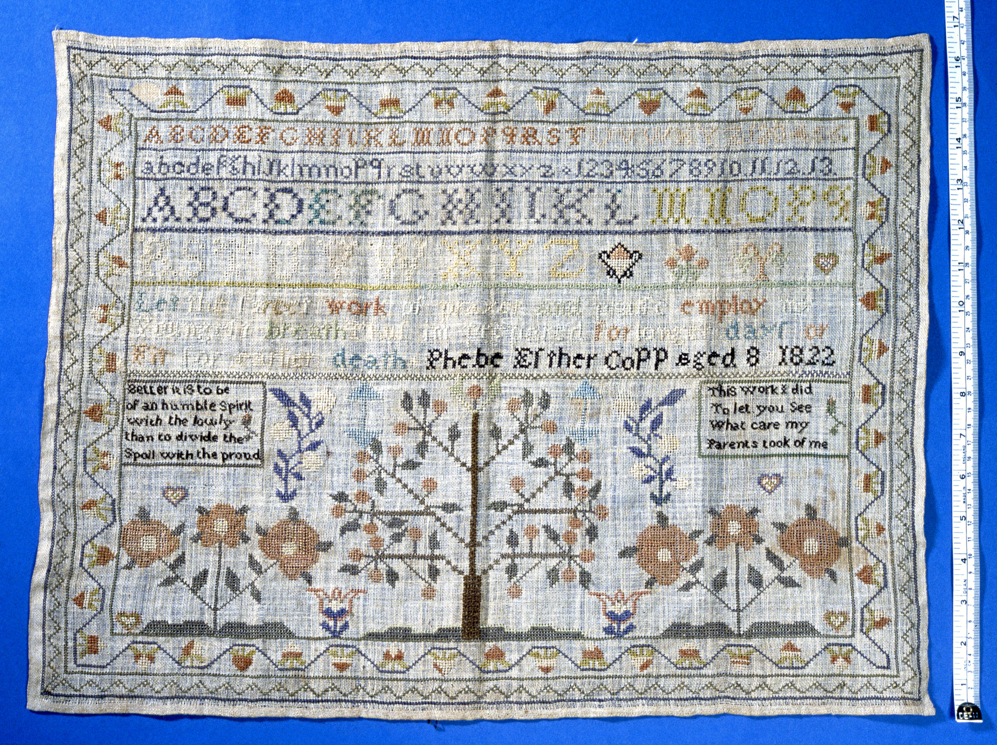 Phebe Esther Copp's sampler
