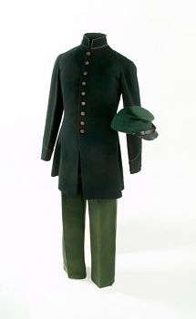 Berdan Sharpshooter Uniform,  Name: Berdan, Colonel C. H., Lincoln, Abraham,  Date: 1860s