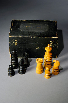 McClellan's Chess Set,  Name: McClellan, George B., Schuyler, Hartley & Graham,  Date: 1860s