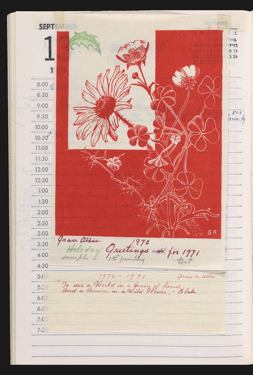 Appointment book, 1970, from the Grace Albee papers, 1890-1971