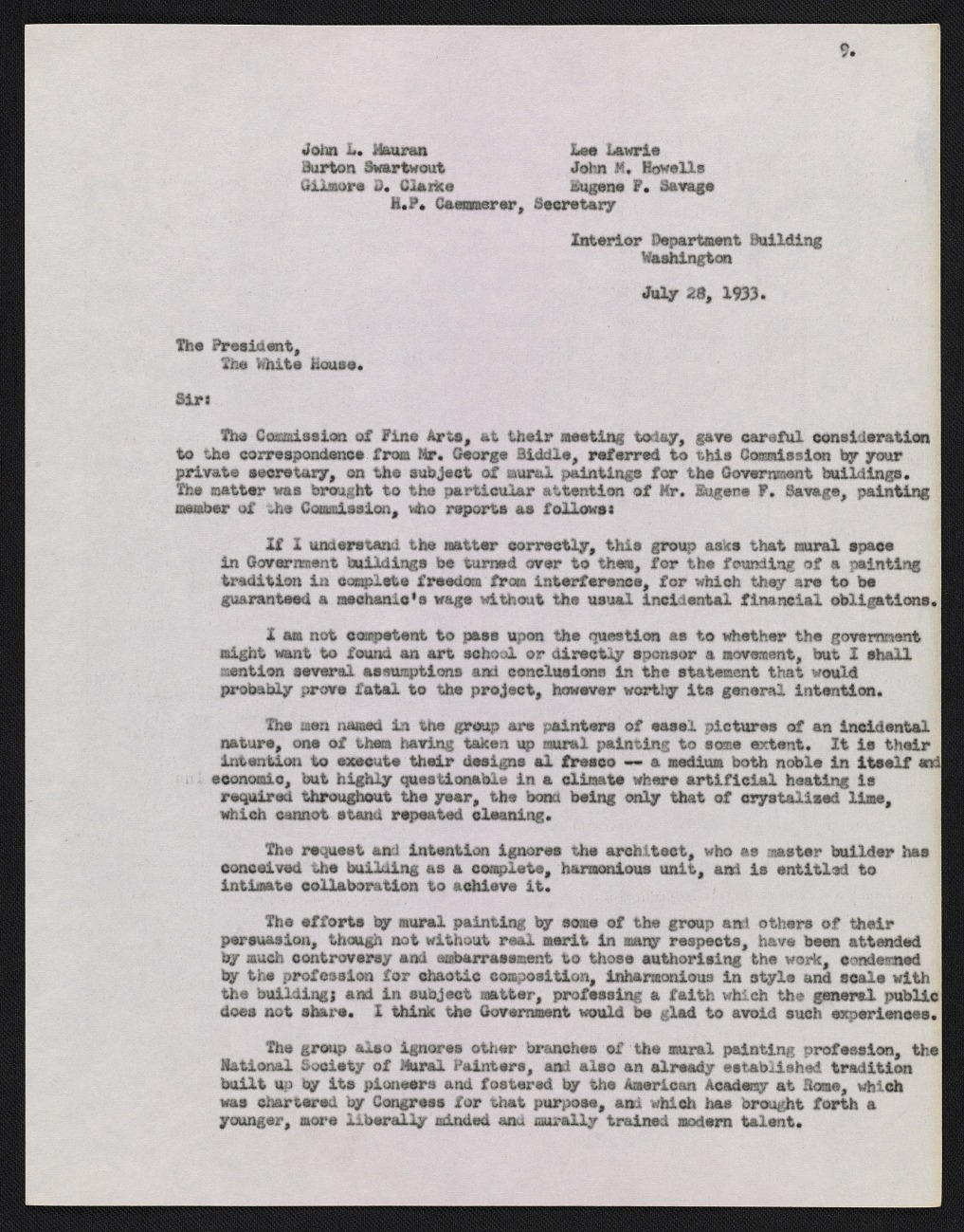 A Finding Aid to the George Biddle papers, circa 1910-1970
