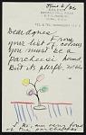 Representative image for Agnes Rindge Claflin papers concerning Alexander Calder, 1936-circa 1970s
