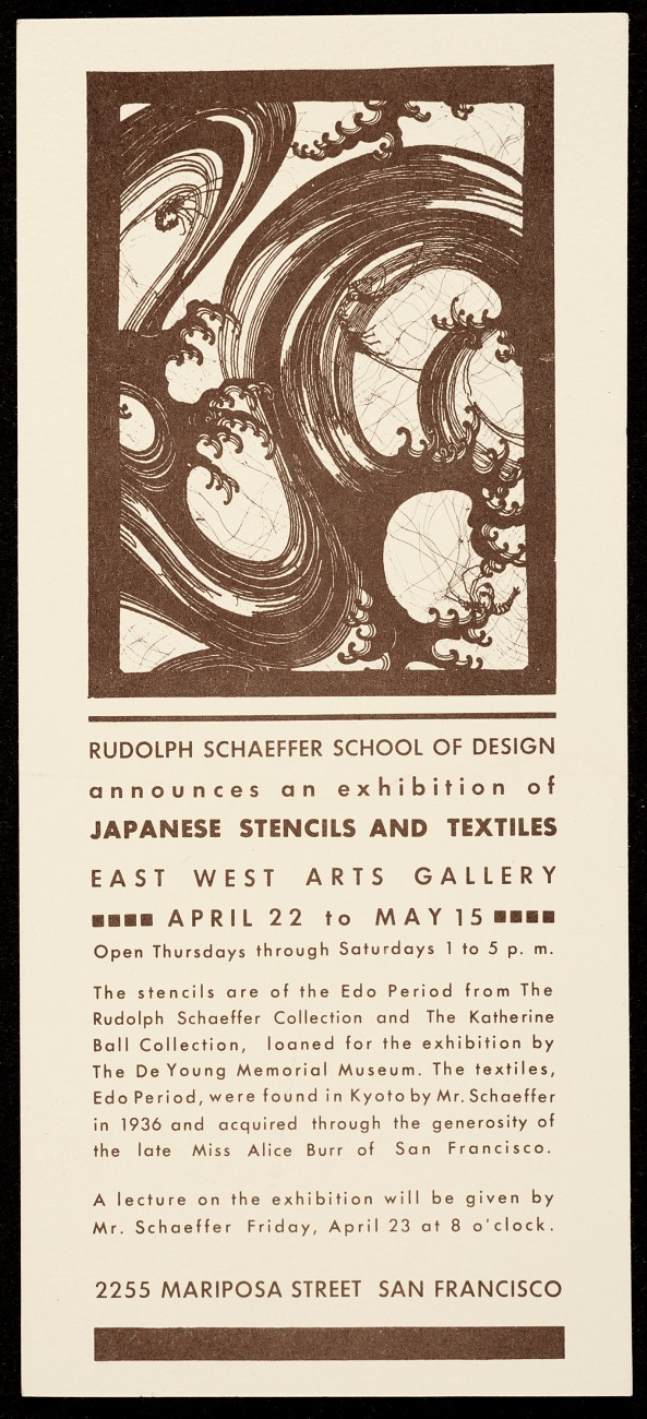 A Finding Aid To The Rudolph Schaeffer Papers 1880s 1997 Archives