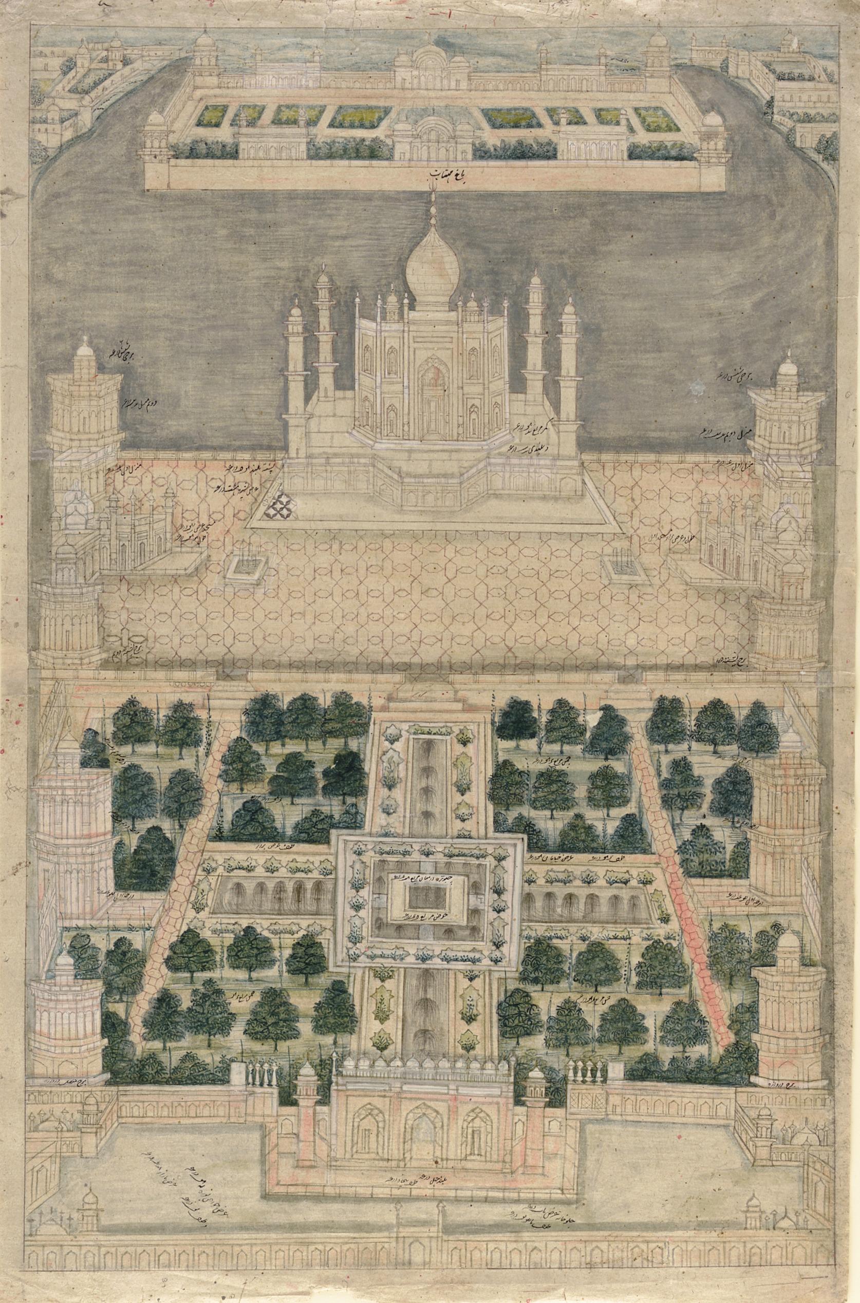Bird's Eye View of the Taj Mahal at Agra