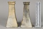 Pair Of Pottery Candlesticks