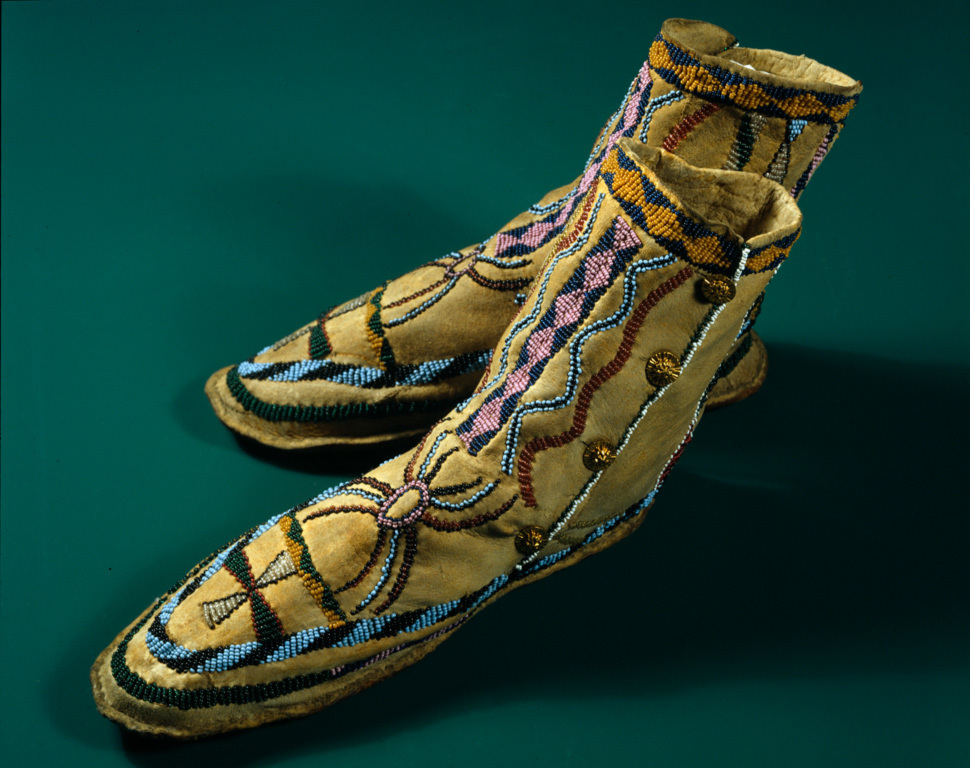 Beaded Moccasins (Pair)