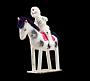 Paper Mache Figure: Skeleton On Horse