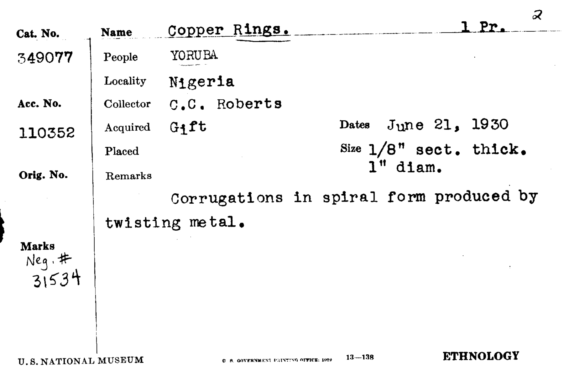 Copper Rings (1 Pair)