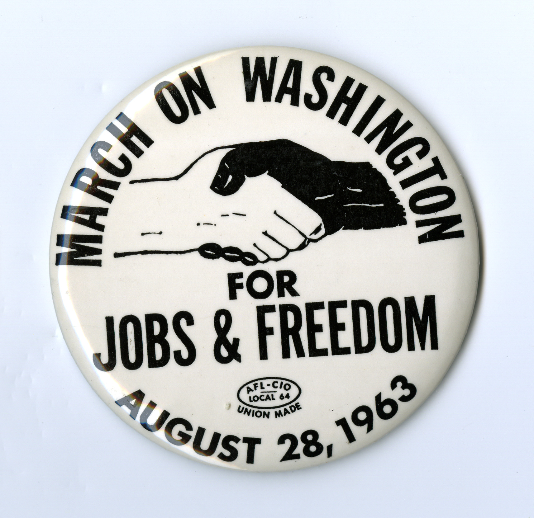 Button, March on Washington for Jobs & Freedom.