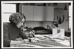 Adela Akers in her studio