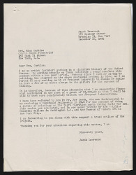 Jacob Lawrence's grant application to the Chapel Brook Foundation