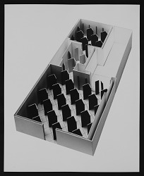 "Photograph of ""Environment IV: Corridors"" scale model"