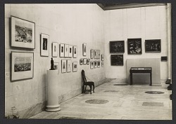 Installation view of the exhibition of works of American Artists from the collections of the State Pushkin Museum of Fine Arts and the State Hermitage Museum