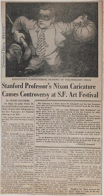Stanford professor's Nixon caricature causes controversy at S.F. art festival