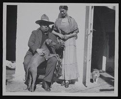Portrait of Frida Kahlo and Diego Rivera with dog