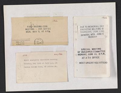 Artist Tenants Association records, 1959-1978