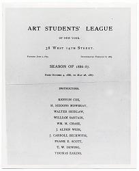 Art Students League Plaque