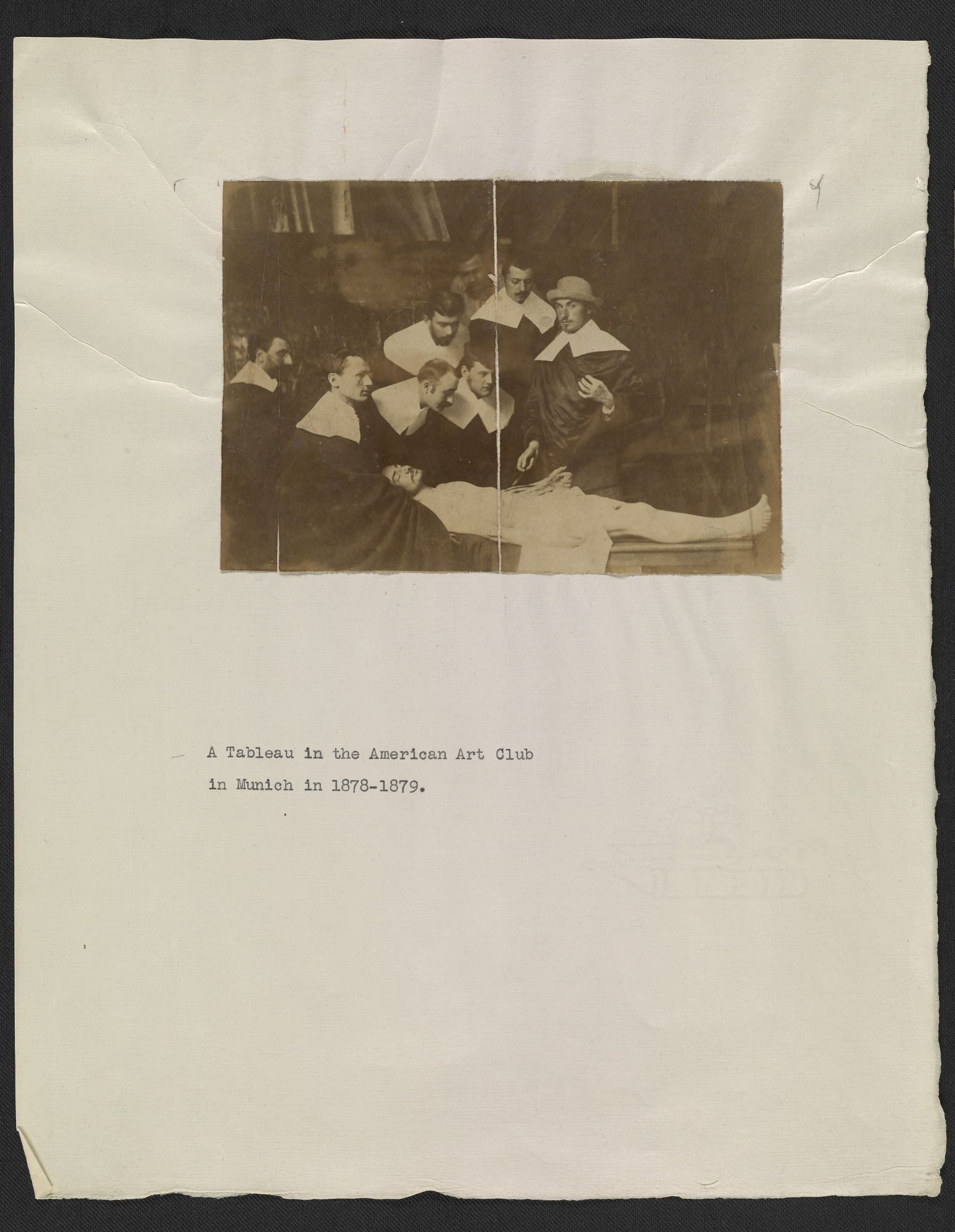 Resources :: American Artists\' Club of Munich members in a tableau ...