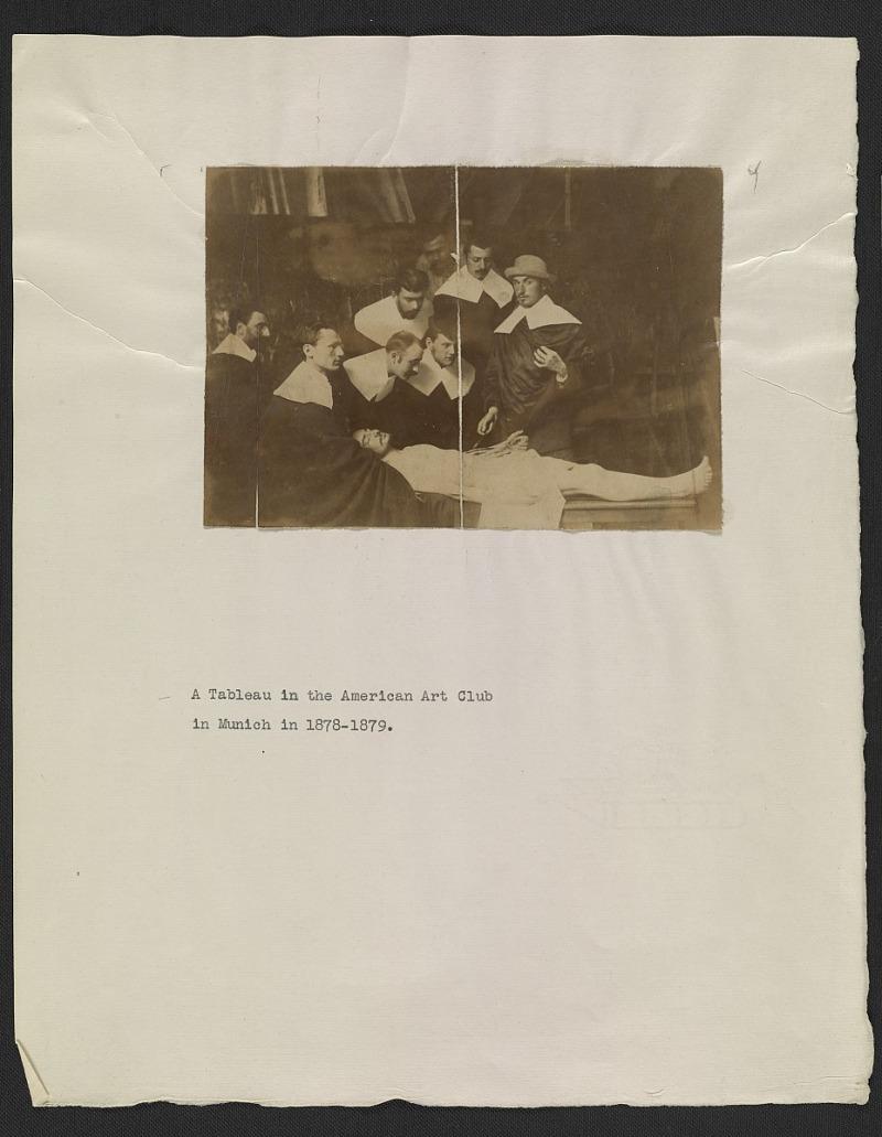 Resources :: American Artists\' Club of Munich members in a tableau ...
