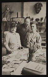 Photograph of Diego Rivera and Frida Kahlo in New York studio