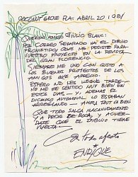 Enrique Riverón, Coconut Grove, Fla. to Giulio V. Blanc