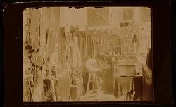 Solon Borglum's studio. Interior